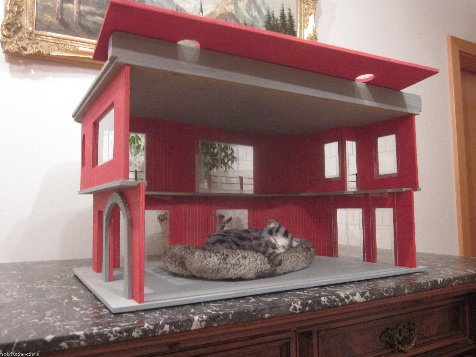 katzenhaus villa bauhaus lasiert 6 katzen eldorado. Black Bedroom Furniture Sets. Home Design Ideas
