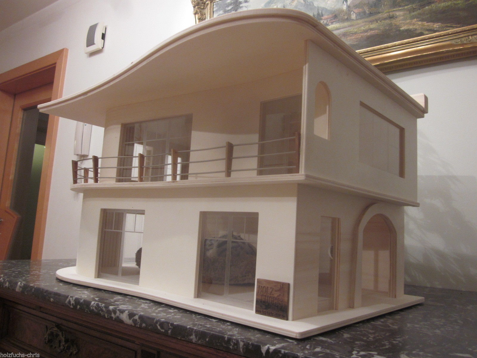 katzenhaus villa bauhaus unlasiert 3 katzen eldorado. Black Bedroom Furniture Sets. Home Design Ideas