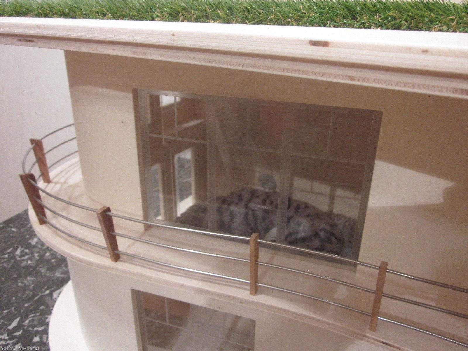katzenhaus villa bauhaus unlasiert 4 katzen eldorado. Black Bedroom Furniture Sets. Home Design Ideas