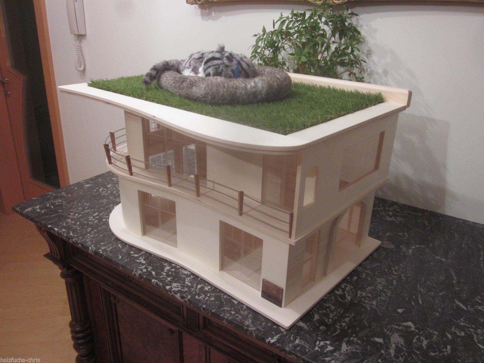 katzenhaus villa bauhaus unlasiert katzen eldorado. Black Bedroom Furniture Sets. Home Design Ideas