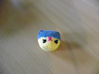 Katzenspieltier blau-gelb